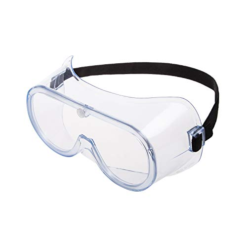 Safety Goggles Protection with CE ANSI Z87.1, Safety Goggles Over Glasses, Goggles for lab, Protective Eye wear, Clear Vision Goggles, Lightweight Goggles