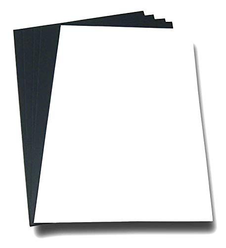 Magnetpapier A4 Kühlschranknote, magnetisches Etikett A4 passend für Drucker, Filz und Stifte - dokumentenecht - zum einfachen Erstellen und Schneiden von Magneten, Notizen, Kühlschrankmagneten