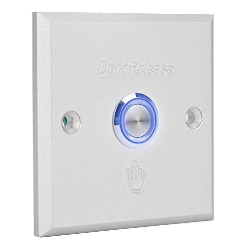 Gaeirt Interruptor de botón de liberación de Puerta de Carcasa de Aluminio Interruptor de Puerta Duradero Botón de liberación de Puerta 100% Nuevo, para Sistema de Control de Acceso de Puerta