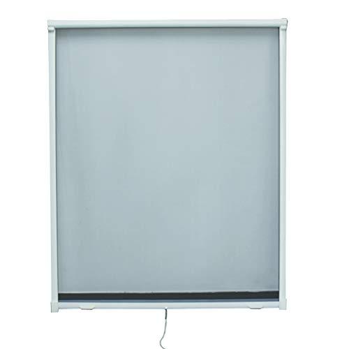 Fliegengitter Rollo Fenster Insektenschutzrollo mit Aluminum Rahmen Individuell Kürzbar,130 * 160cm,Weiß