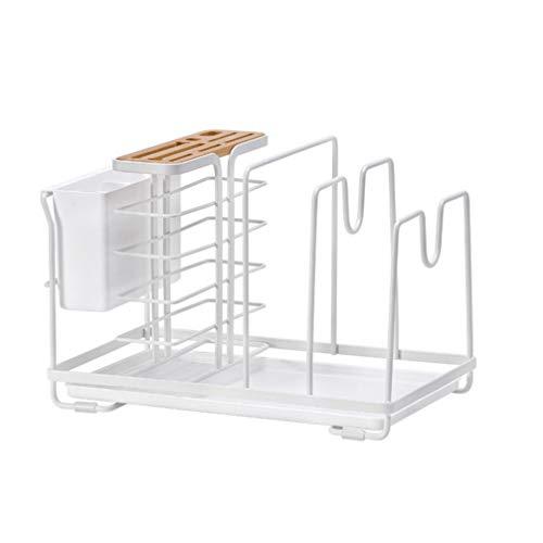 Cabilock Hållare för köksredskap knivhållare ätpinnar grytlock skärbrädor tvättställ diskho arrangör redskap behållare kökshjälp för kök bänkskiva