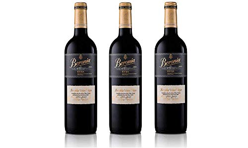 Beronia Viñas Viejas - Vino D.O.Ca. Rioja - 3 botellas de 750 ml - Total: 2250 ml