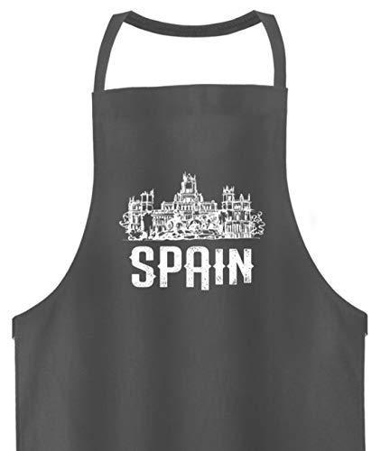 Schuhboutique Doris Finke UG (haftungsbeschränkt) Spanien Madrid Palast Schloss - Hochwertige Grillschürze -Einheitsgröße-Mausgrau