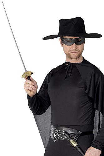 Smiffys Maschera e spada di Zorro, 68cm / 27in
