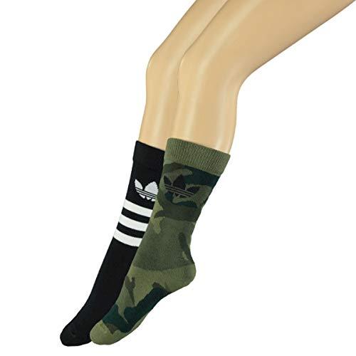 adidas Originals Lot de 2 paires de chaussettes Trefoil Mid-Cut
