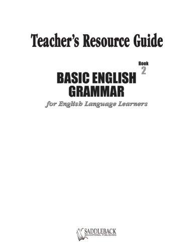 Basic English Grammar Book 2 Teacher's Resource Guide (Basic English Grammar for English Language Learners)