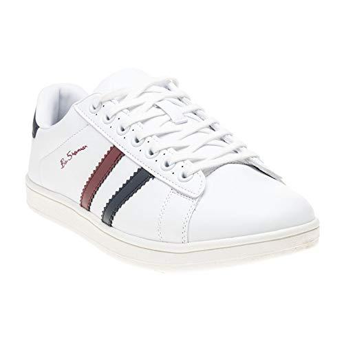 Ben Sherman Herren Gustavo Tennisschuhe Sneaker Weiß 43 EU
