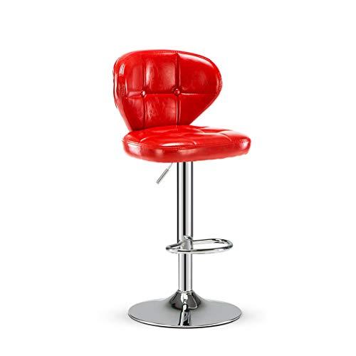 ZUOANCHEN barkruk, eettafel, hoge stoel, meubels, draaibaar, hydraulisch, verstelbaar, 1 stuk met rugleuning van PU-leer, kleurrijke zitting