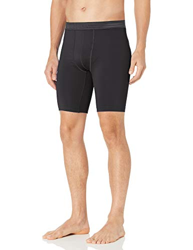 Hanes Men's Sport Performance Compression Short, Ebony/Ebony, Medium