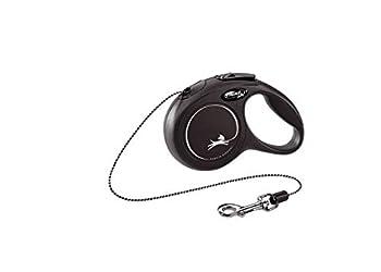 Flexi New Classic Laisse en Cordon pour Chat Noir Taille 3 m 8 kg XS