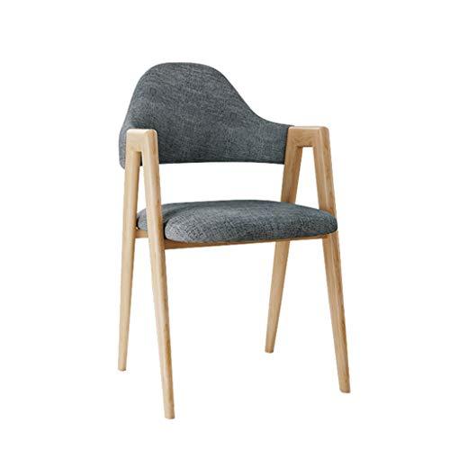 chenyang86 Chaise - Tissu multicolore en coton et lin avec dossier décontracté très élastique (Couleur : Dark)