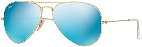 Ray-Ban Pilotenbrille Aviator 3025 112/17 Gold mit blauen Gläsern