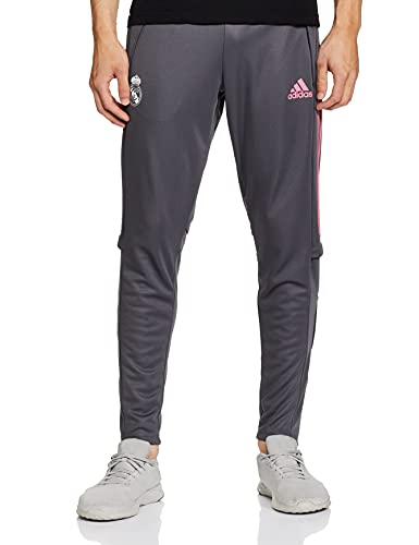 Adidas Real Madrid Temporada 2020/21 Pantalón Largo Chandal Entrenamiento Oficial, Unisex, Gris, M