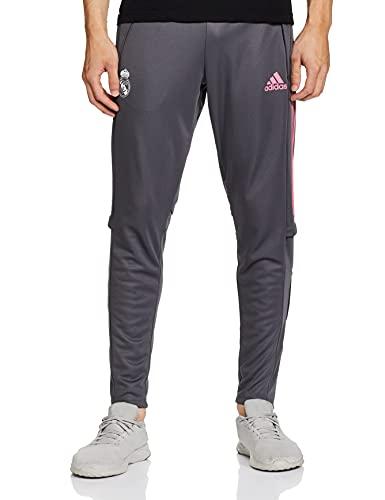Adidas Real Madrid Temporada 2020/21 Pantalón Largo Chandal Entrenamiento Oficial, Unisex, Gris, L