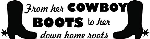 Cowboy Boots Boot Rodeo Country Quote Quotes Equestrian Horse Wall Decals for Girls Rooms/Girl Horses Animals Horseback Riding Sport Jumping Vinyl Art Decor Stickers/Saddle Size (15x30 inch)