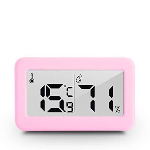 SHENGYANG 1 cm dünn, elektronisches Smart Home-Thermometer und Hygrometer, Haushaltsthermometer, Trocken- und Nassmessgerät für Innenräume, einfach abzulesen, Vier Farben zur Auswahl-White