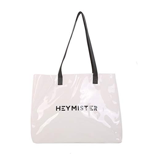 Damen Umhängetasche Transparent Candy Strandtasche mit großer Kapazität Schwarz Blau klar Lila Rot Weiß