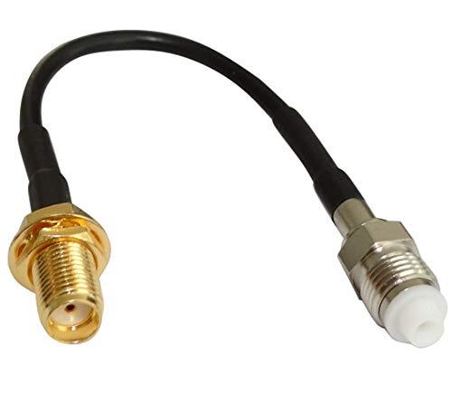 AERZETIX: Adapterkabelstecker 10 cm SMA-B Buchse auf FME-A Buchse RG174 C43443