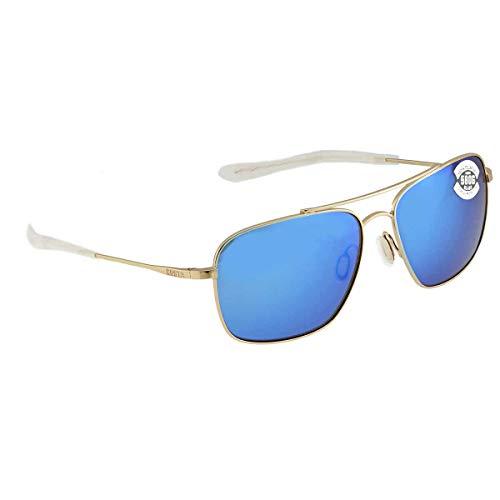Costa Canaveral Gold Titanium Frame Blue Mirror Lens Unisex Sunglasses CAN126OBMGLP -  Costa Del Mar