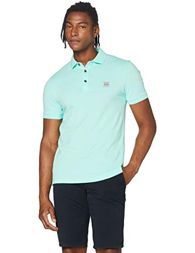 BOSS Mens Passenger Polo Shirt, Open Green (352), XXL
