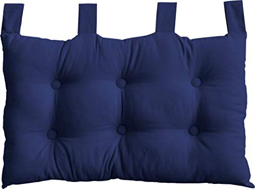 Enjoy Home, Testiera letto a cuscino, in cotone, 70 x 45 cm, Blu