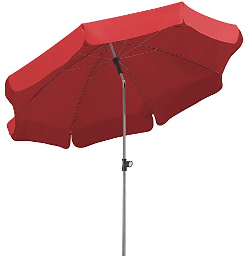 Schneider Sonnenschirm Locarno, rot, 200 cm rund, Gestell Stahl, Bespannung Polyester, 2.4 kg