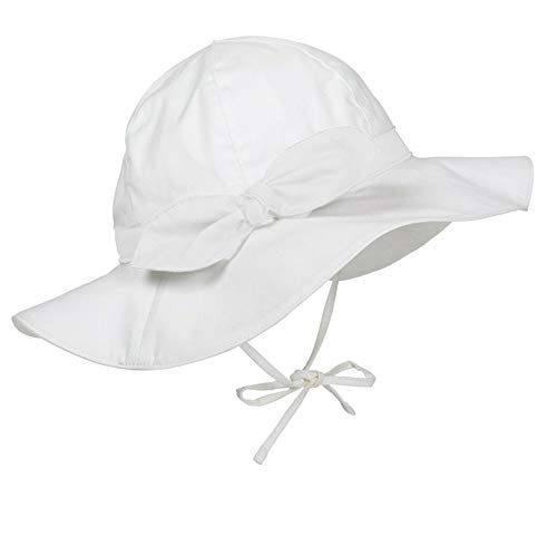 Durio Baby Sun Hat Summer Beach UPF 50+ Sun Protection Baby Boy Hats Double Sides Toddler Sun Hats Cap for Baby Girl Kid Bucket Hat Ivory White 18.9
