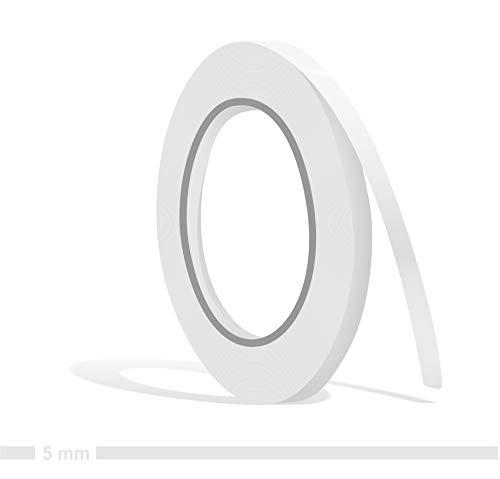 Siviwonder Zierstreifen weiß Glanz in 5 mm Breite und 10 m Länge für Auto Boot Jetski Modellbau Klebeband Dekorstreifen