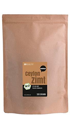 wohltuer bio Ceilán canela gemahlen-Canela polvo I Sabroso y saludable I 100% puro Producto natural I 3,6g minerales a 100g