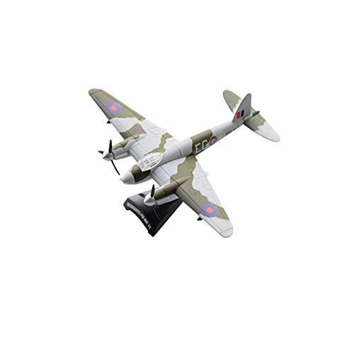 CMO Aeromodelismo, De Havilland Mosquito Fighter Bombardero RAF Modelo De Aleación Escala 1/120, Juguetes y Regalos para Adultos, 4.1 X 5.5 Pulgadas
