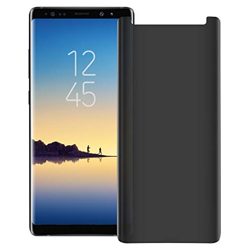 YCFlying Privacy Tempered Glass Galaxy Note 8 Screen Protectors, (Case Friendly Updated Design) 3D Curved Anti-Spy Screen Protectors for Galaxy Note 8 (Transparent)