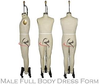 (ST-MALEFULLSIZE42) Model #601 Professional Dress Form Male Full Body Dress Form size 42. No Collapsible shoulder. Adjustable up & down