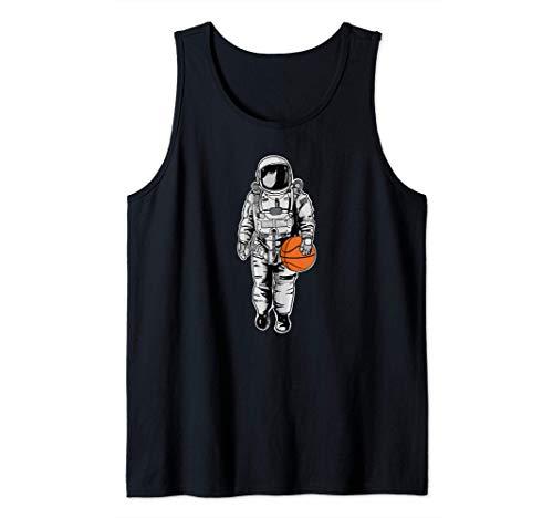Space Basketball Astronaut funny Basketball Space Camiseta sin Mangas