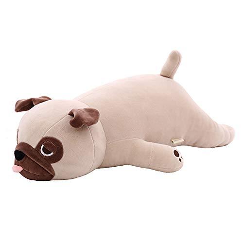 BELUPAI Plüschpuppe Mops, 3D-Tierspielzeug, niedlicher Dicker Mops-Wurfkissen, Simulation Mops, Spiel-Spielzeug, Tiere, Plüschkissen, Mops, Kissen, (> > > > > > > > > > > > > > > >, mops, 60 cm