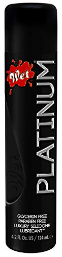 Wet Platinum Silicone Based Sex Lube 4.2 Ounce Premium Personal Luxury Lubricant, Longest Lasting...