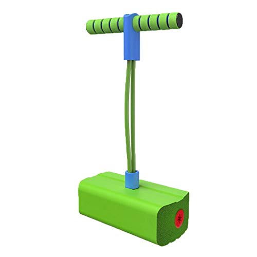 WENJIA Pogo Stick Pogos Saltarines Childrens Fun Safe Soft Pogo Stick,Safe Soft Saludable Y Divertido,Adecuado para Uso En Interiores Y Al Aire Libre (Color : Green)