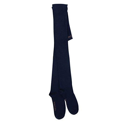 Boboli meisjes panty donkerblauw met bruine glittersteentjes maat 92-172 98