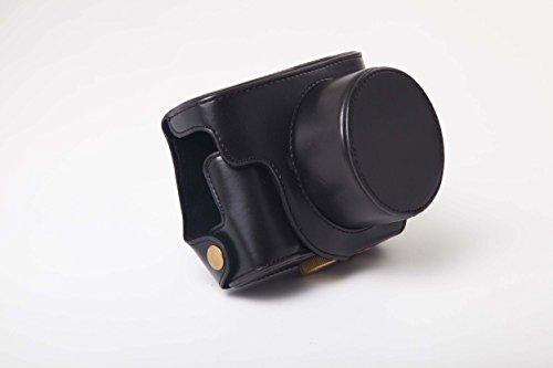 vhbw Bolsa, Funda para cámara Compatible con Canon Powershot G1X Mark 2, G1X Mark II cámaras; Negro + Tornillo 1/4