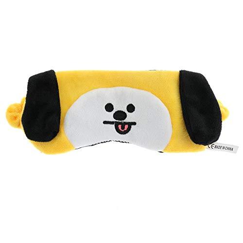 Teblacker BTS Sleeping Eye Mask, Kpop Bangtan Boys Cartoon Characters Super-Smooth Breathable Plush Eye Mask for Army(CHIMMY)