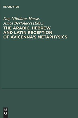 The Arabic, Hebrew and Latin Reception of Avicenna's Metaphysics (Scientia Graeco-Arabica, Band 7)