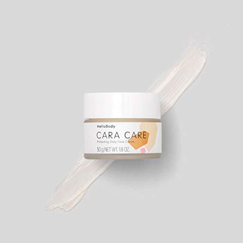 HelloBody CARA CARE Crema viso protettiva (50 ml) – Crema idratante per pelli sensibili – Crema giorno vegan che protegge la pelle dagli agenti ambientali