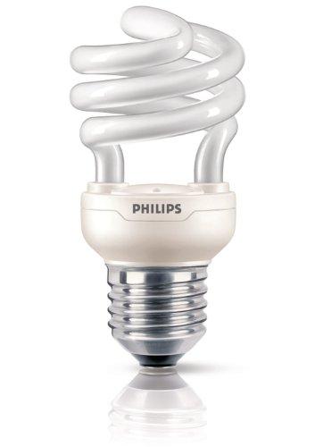 Philips Ampoule FluoCompacte Spirale Culot E27 12 Watts Consommés Équivalence Incandescence : 60W