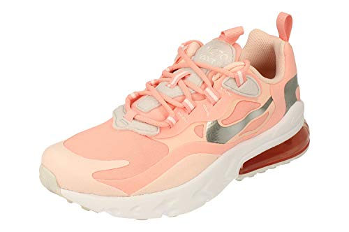 Nike Air MAX 270 React GG Running Trainers CQ5420 Sneakers Zapatos (UK 6 US 6.5Y EU 39, Bleached Coral White 611)