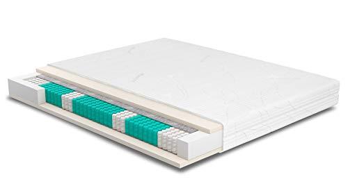 Matratze 160x220 cm | SERA H4 | Purotex | Orthopädische 7-Zonen | Komforthöhe 23cm | Ideal für Allergiker & Schwitzer | Tonnentaschen | Taschenfederkernmatratze 160 x 220