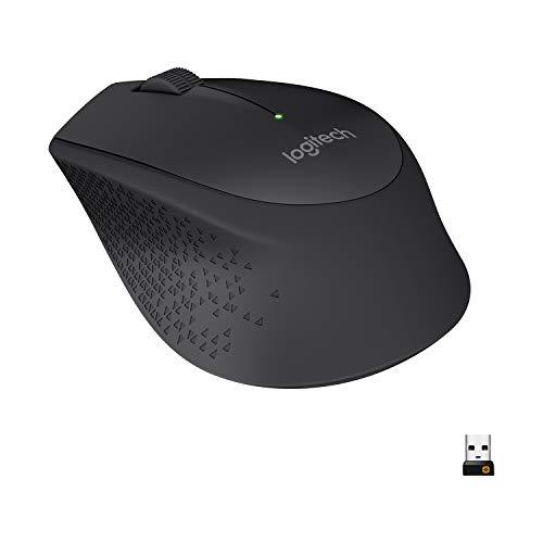 Logitech M280 Kabellose Maus, 2.4 GHz Verbindung via Nano-USB-Empfänger, 1000 DPI Optischer Sensor, 18-Monate Akkulaufzeit, 3 Tasten, PC/Mac - Schwarz