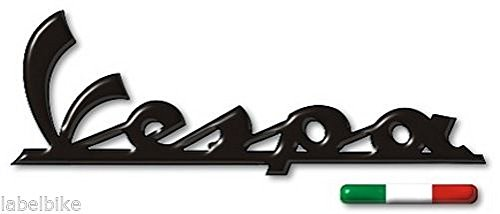 Pegatinas resinadas 3D con texto Vespa adhesivo para la playa + bandera italiana