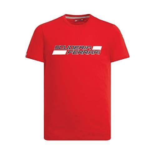 Brand Sports Merchandising B.V. Scuderia Ferrari F1 - Maglietta da uomo con logo rosso, X-Large