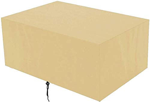 YSJYYHP Funda para Muebles De JardíN Impermeable,Cubiertas Rectangulares para Muebles De Exterior,ProteccióN contra El Polvo Y Los Rayos UV,para Muebles De JardíN-Beige_120x120x74cm
