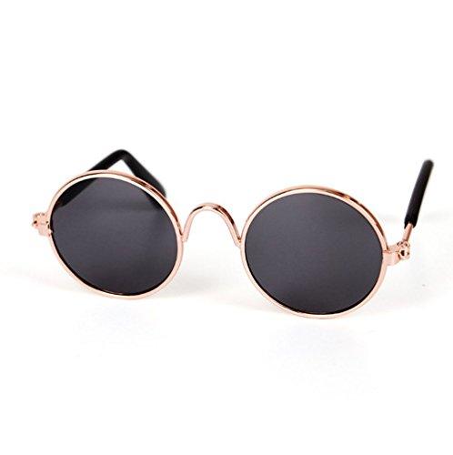 Haodou Haustier-Sonnenbrille Stilvoll Haustiere Brille Ebenenspiegel Schatten Glasses Schutzbrillen vogue Nerdbrille (Schwarz)