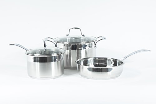 Wolfe Kitchenware Non Stick Induction Cookware Set,Ready Dishwasher Safe Cookware, 5 PC
